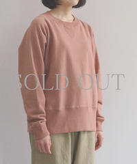 bunt / LOOP WHEEL CREW NECK SWEAT SHIRTS  / col.コーラル / Lady's
