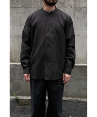 THE HINOKI / Cotton Parachute Cloth Stand Up Collar Shirt / col.BLACK