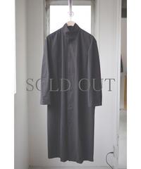 THE HINOKI / コットンボイルパラシュートクロス スタンドアップカラーシャツドレス / col.BLACK