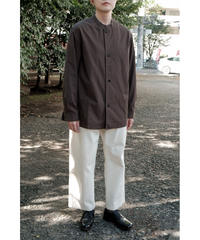 THE HINOKI / Cotton Parachute Cloth Stand Up Collar Shirt / col.OLIVE BROWN / Lady's