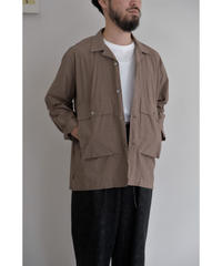 ENDS and MEANS / Corfu Shirts L/S / col.BROWN / size.L