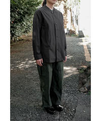 THE HINOKI / Cotton Parachute Cloth Stand Up Collar Shirt / col.BLACK / Lady's