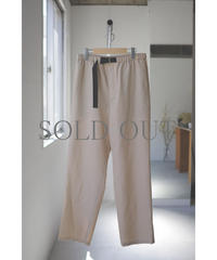 Blanc YM / S/W Royal Oxford Easy Pants / col.BEIGE