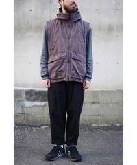 YOKO SAKAMOTO / UTILITY VEST / col.OVERDYE BLUE GRAY