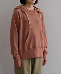 bunt / LOOP WHEEL CREW SWEAT PARKA   / col.コーラル / Lady's