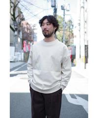 Blanc YM / Coating Sweat Shirt / col.BEIGE