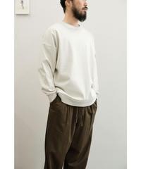 Blanc YM / Coating Sweat Shirt / col.BEIGE / size.S