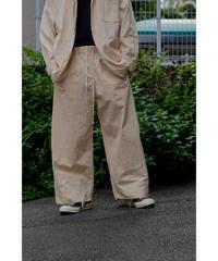 YOKO SAKAMOTO / WORK TROUSERS BAGGY / col.ECRU