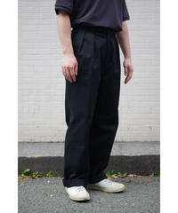 ULTERIOR / BIZEN No'1 TWILL TUCKED MILITARY PANTS / col.MIDNIGHT