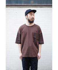 YOKO SAKAMOTO  / MIX POCKET T-SHIRT / col.BROWN