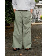 Sheba / 2TUCK WIDE PANTS / col.GREEN