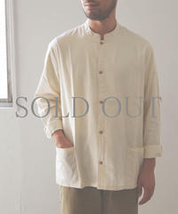 THE HINOKI / オーガニックコットンオックスフォード スタンドアップカラーシャツ / col.ナチュラル