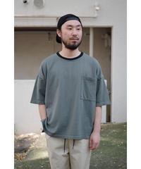 YOKO SAKAMOTO  / POCKET T-SHIRT / col.BLUE GRAY