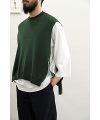 bunt / FINE COTTON TAPE KNIT VEST / col.KHAKI / Men's