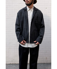 ULTERIOR / BRUSHED SLUB TWEED OVER SHIRT / col.CHARCOAL / size.4