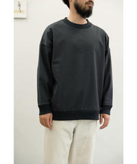 Blanc YM / Coating Sweat Shirt / col.BLACK / size.S