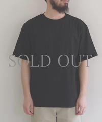 comm.arch. / DOUBLE LAYERED S/S TEE / col.DEEP BLACK