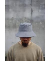 ULTERIOR / TWISTED CHANBRAY GABARDINE BUCKET HAT / col.CASTOR GREY