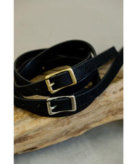YOKO SAKAMOTO / LEATHER BELT SLIM / UNISEX (オイルレザー)