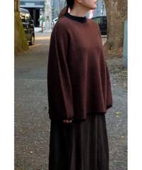 YOKO SAKAMOTO / RACCOON WOOL BIG KNIT / col.BROWN / Lady's