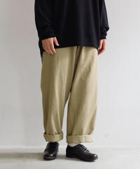 DEAD STOCK / FRENCH ARMY TROUSER / size 35 / Lady's