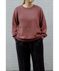 comm.arch. / HAND FRAMED CO LINEN P/O / col.RED BEAN / Lady's