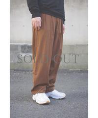 【再入荷】YOKO SAKAMOTO / 2 TUCK EASY PANTS / col.BROWN