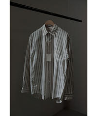 ULTERIOR / OVERLAID STANDERD STRIPE SHIRT / col.OFF