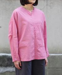 THE HINOKI / オーガニックコットンポプリン プルオーバーシャツ / col.PINK