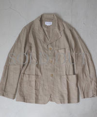 ENDS and MEANS / Work Jacket (silk Linen) / col.beige