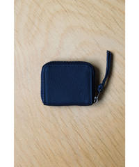 ERA. / BUBBLE CALF ROUND VERY MINI WALLET / col.NAVY