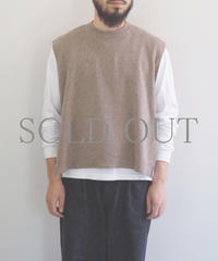 bunt / WOOL TAPE KNIT VEST / col.ベージュ / Men's