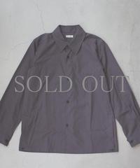 THE HINOKI / コットンネップパラシュートクロス レギュラーカラーシャツ / col.チャコールブラウン / Men's