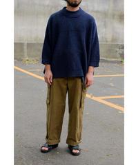 YOKO SAKAMOT / PAPER KNIT T-SHIRT / col.NAVY