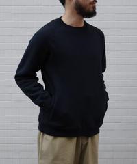 THE HINOKI / コットンウール裏起毛 スウェット / col.BLACK