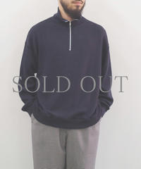 bunt / REVERSE SWEAT HALF ZIP SHIRTS / col.ネイビー / Men's