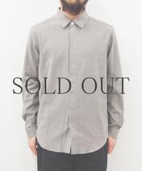 THE HINOKI / 備後節織ストライプシャツ / col.グレー
