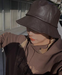 【cult select】Leather bucket hat (CTK0138)