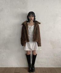 【cult select】Square neck cotton one-piece (CTK0011)