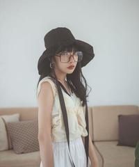 【cult select】Frill ribbon hat (CTK0038)