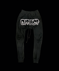 CTLS   black felt emblem   usual sweat pants