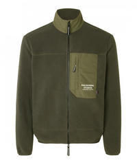 OFF RACE FLEECE JACKET - DARK OLIVE