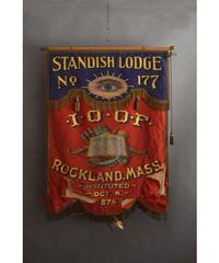 09-MT324290 Banner flag mason standish lodge