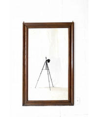 09-DS212062 French wooden frame mirror