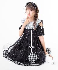 【d.Alice】ブラックドットワンピース