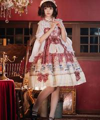 【d.Alice】赤チェック ワンピース
