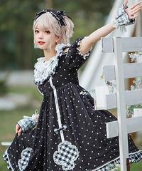 【d.Alice】ブラックドットワンピース 1035
