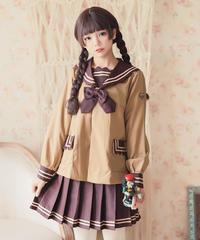 【d.Alice】ブラウン系セーラー服