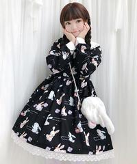 【d.Alice】うさぎ黒ワンピース(長袖) 1079