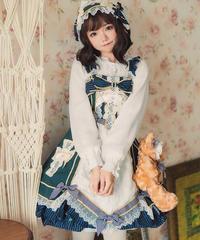 【d.Alice】レースブラウス付ワンピース(グリーン)